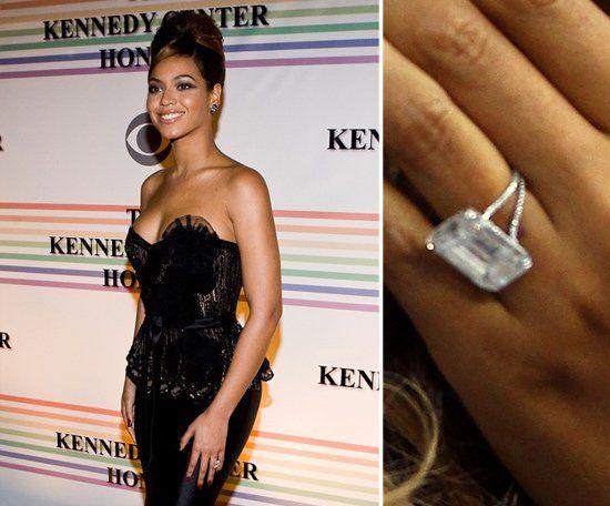 Pin for Later: Die schönsten Eheringe der Stars Beyoncé Knowles Jay-Z weiß, wie man eine Frau beeindruckt. Der Rapper beschenkte Beyoncé mit einem 18-karätigen Diamantring. Der Wert? 5 Millionen US Dollar!