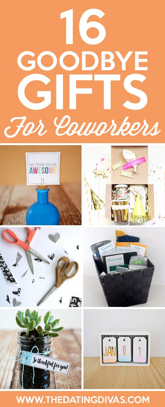 Goodbye Gifts for Coworkers- simple and sweet ideas