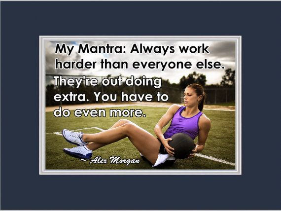 Soccer Poster Alex Morgan Photo Quote Matted by ArleyArtEmporium, $15.99