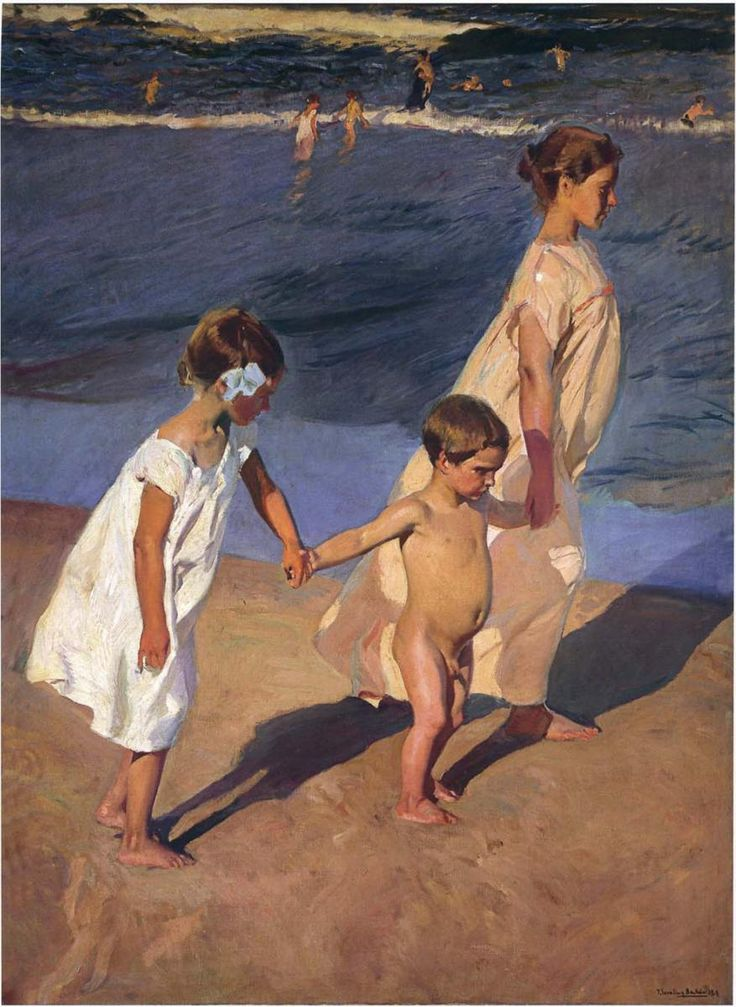 Joaquín Sorolla - To the water