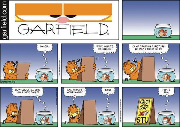 Garfield Comic Strip, October 09, 2016 on GoComics.com