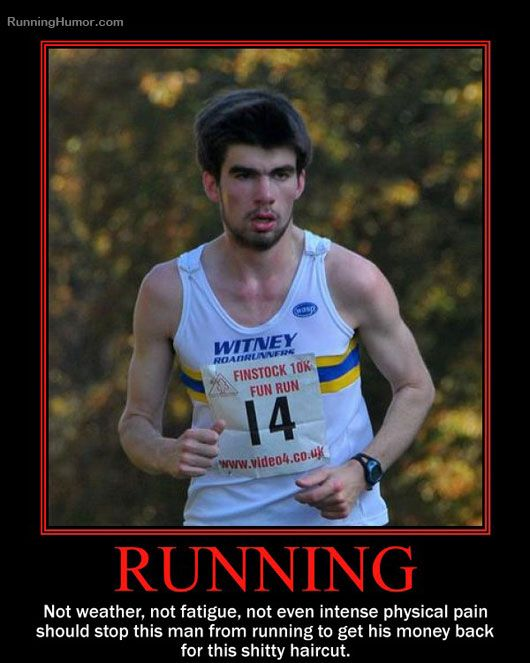 Funny running picture - Bad Hair
