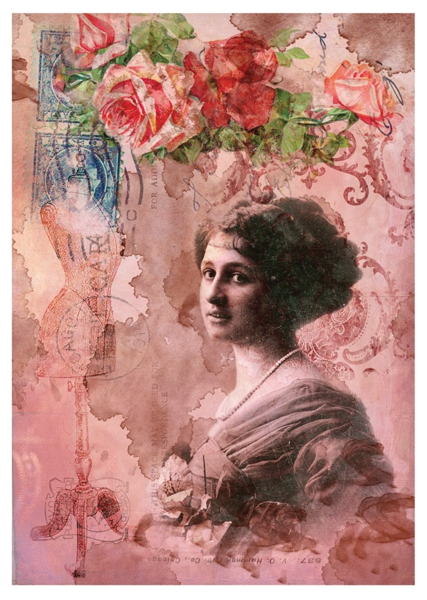 Decoupage Paper Easy Digital Collection Lady