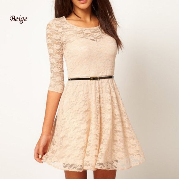 Fashion New Women Sexy Lace Dress Summer Evening Party Club Cocktail Dress Casual Mini Dress