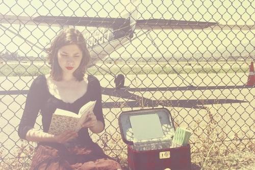 flygplats läsning.