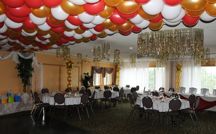 17 best images about party decorations balloon decorations for Balloon decoration for ceiling