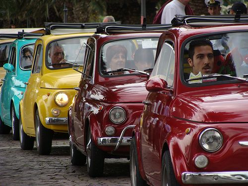 Fiat 500s through the years.