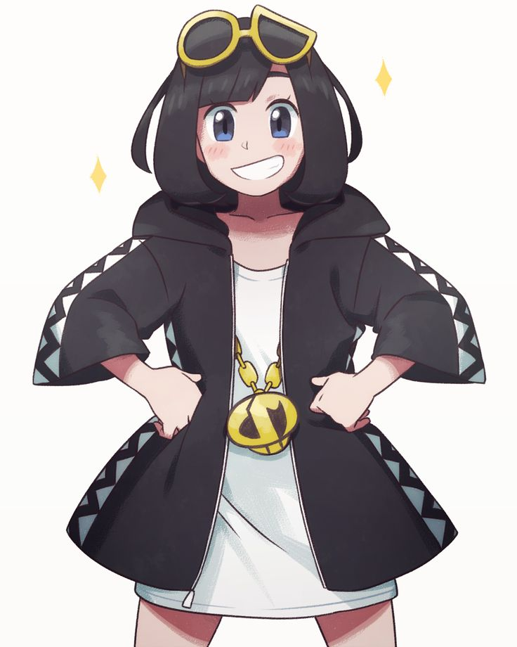 Pokemon Sun and Moon Trainer Moon Guzma Clothes
