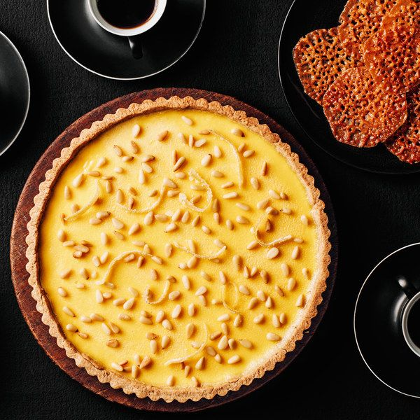 While the crispy, buttery lace cookies add addictive crunch to this dessert, they're not mandatory. The citrusy creaminess of this Italian-style lemon tart makes it an impressive finale all on its own.