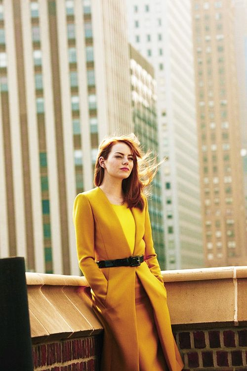 Emma Stone. Kind of wish I were her...she can pull off red hair, worked with Steve Carell, worked with Kevin Bacon, and kissed Ryan flipping Gosling!!!!!!!!! Wtflip?!!