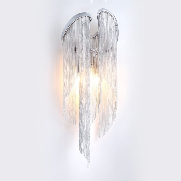 Nordic light luxury living room wall aluminum chain/Creative lamp bedside bedroom / modern minimalist style aisle lights-A