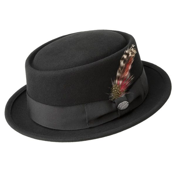b6d54ab342a 1940s Mens Hat Styles and History Bailey Wool Porkpie Hat  60.00 AT  vintagedancer.com