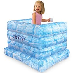 SNOWTIME, ANYTIME! The Indoor Inflatable Snow Fort is a fun way to enhance the action of a snowball fight any time of the year! This inflatable snow fort and Snowtime Anytime Indoor Snowballs (sold separately) are great to have for a good, old-fashioned snowball fight! Get it: http://www.mastermindtoys.com/Indoor-Inflatable-Snow-Fort.aspx