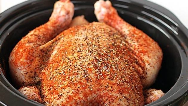 HOW TO MAKE A WHOLE CHICKEN IN A SLOW COOKER