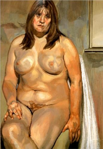 Lucian Freud, The Butcher's Daughter, 2000. Not one of my favourite pieces but huge admirer of Lucian Freud
