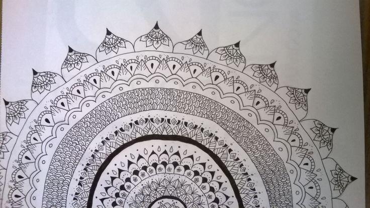 Mandala design draw by me