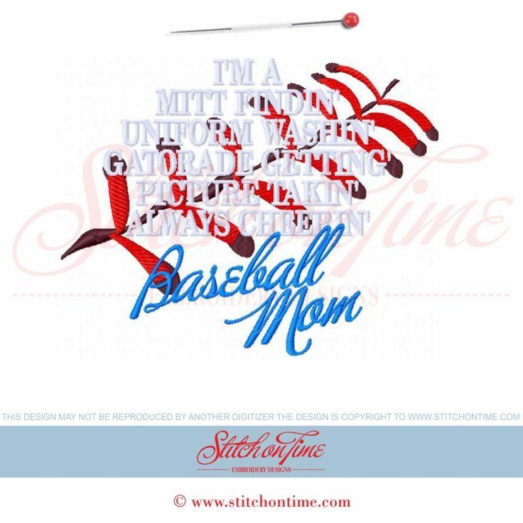 180 Baseball : Baseball Mom 7x7