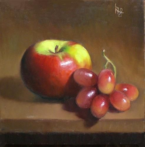 """November Apple and Grapes"" - Original Fine Art for Sale - � Debra Becks Cooper"