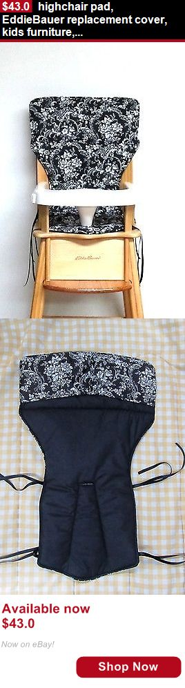 Baby High Chairs: Highchair Pad, Eddiebauer Replacement Cover, Kids Furniture, Black/White Bouquet BUY IT NOW ONLY: $43.0