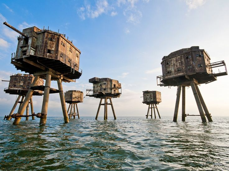 Although they look like props from an H.G. Wells film adaptation, these giant metal towers in the Thames estuary were actually constructed to protect England from German air raids during WWII. The forts were decommissioned in the 1950s, and the abandoned towers were used by pirate radio operators in the following decades. Today, one of the forts is managed by micronation Principality of Sealand