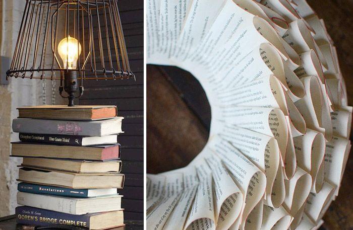 Böcker. De flesta av oss har ett gäng därhemma. Böcker med ett affektionsvärde och några kanske är vackert inbundna. Kanske att de på grund av platsbrist har hamnat i kartonger på vind eller källare? Varför inte använda böckerna i inredningen istället? Här är 9 fina sätt att återbruka dina gamla böcker.