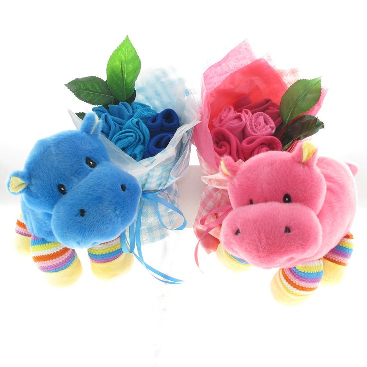 Twins baby bouquet Happy Hippo #baby-gifts-for-twins #gifts-for-twins #multiple-birth-baby-gift #multiple-birth-baby-gifts #twin-baby-gifts #twin-gift-basket #twins #twins-hamper