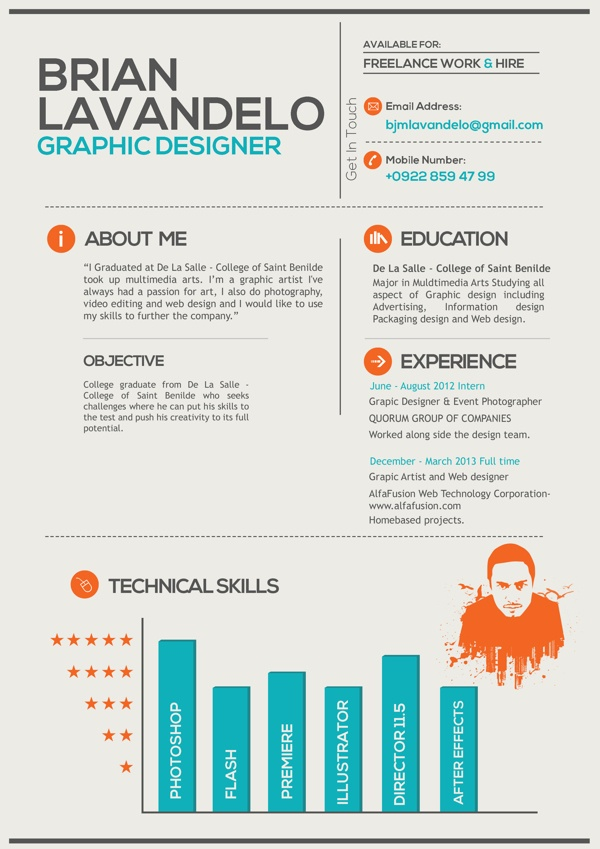 19 best design resume   cv images on Pinterest Design resume - freelance artist resume