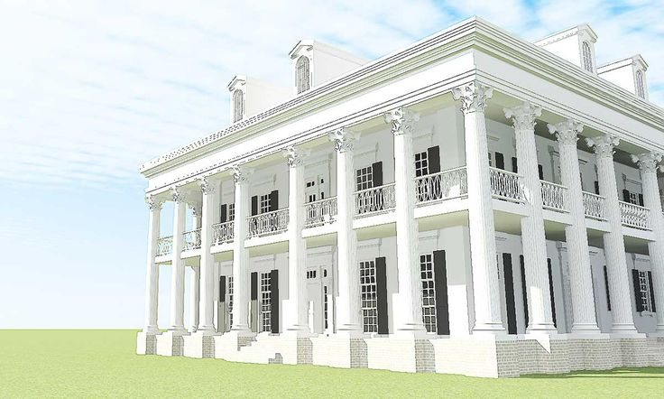 Plan 44055td Classic Greek Revival With Video Tour