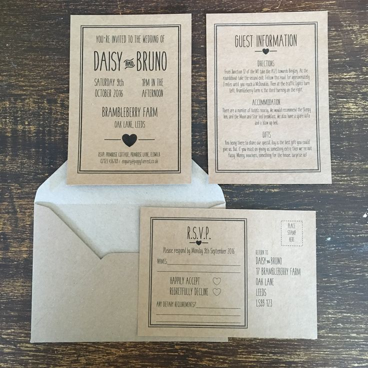 how to make film canister wedding invitations%0A Black Kraft Wedding Invitations  Rustic Country Chic Style