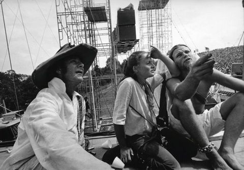 Jim Marshall photo of Wavy, Lisa and Tom Law. Woodstock 1969