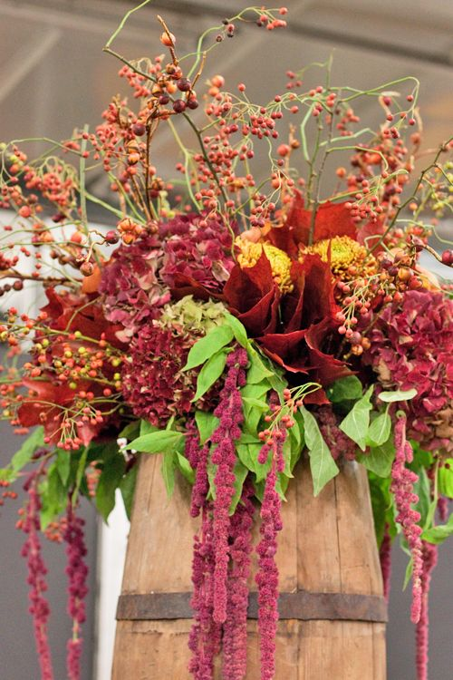 Stunning floral designs created by Francis Rushby from McQueens at the New Covent Garden Flower Market College Day 2014