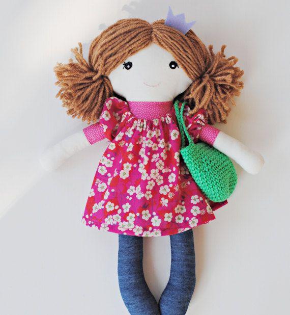 """Rag doll, cloth doll  """"Alice"""", soft doll, doll for girls, fairy doll, princess doll, pompondoll"""