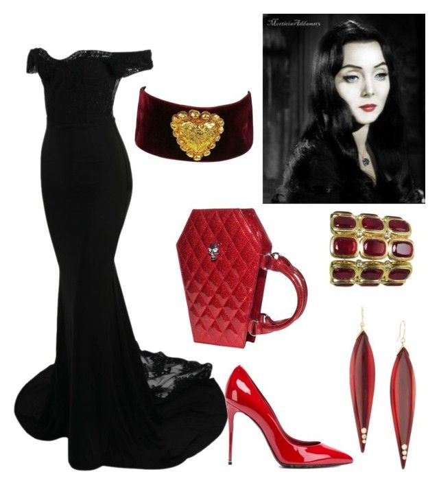 """""""Goth Outfit"""" by miwemporium92 on Polyvore featuring Dolce&Gabbana and Mark Davis"""