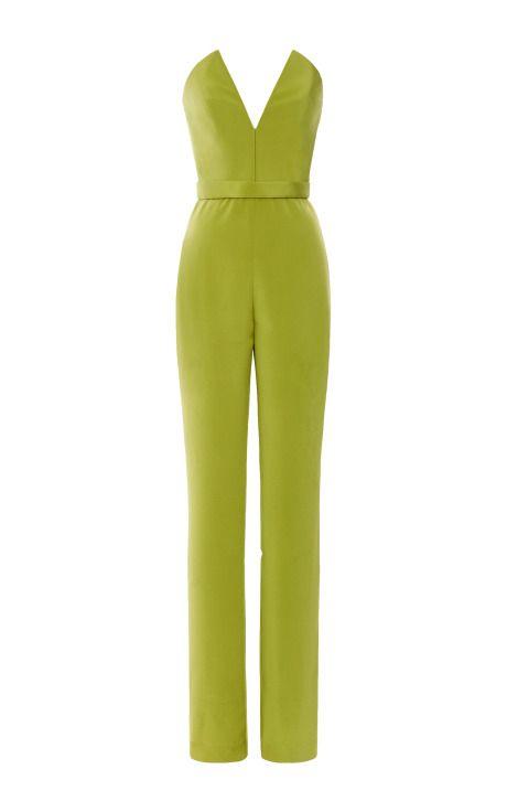 Silk Crepe Jumpsuit by Cushnie et Ochs for Preorder on Moda Operandi