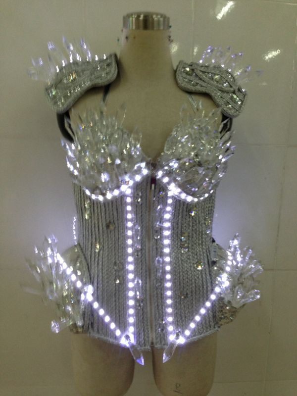 Fashion led full rhinestone female singer costume  The seller bear the freight $350.00