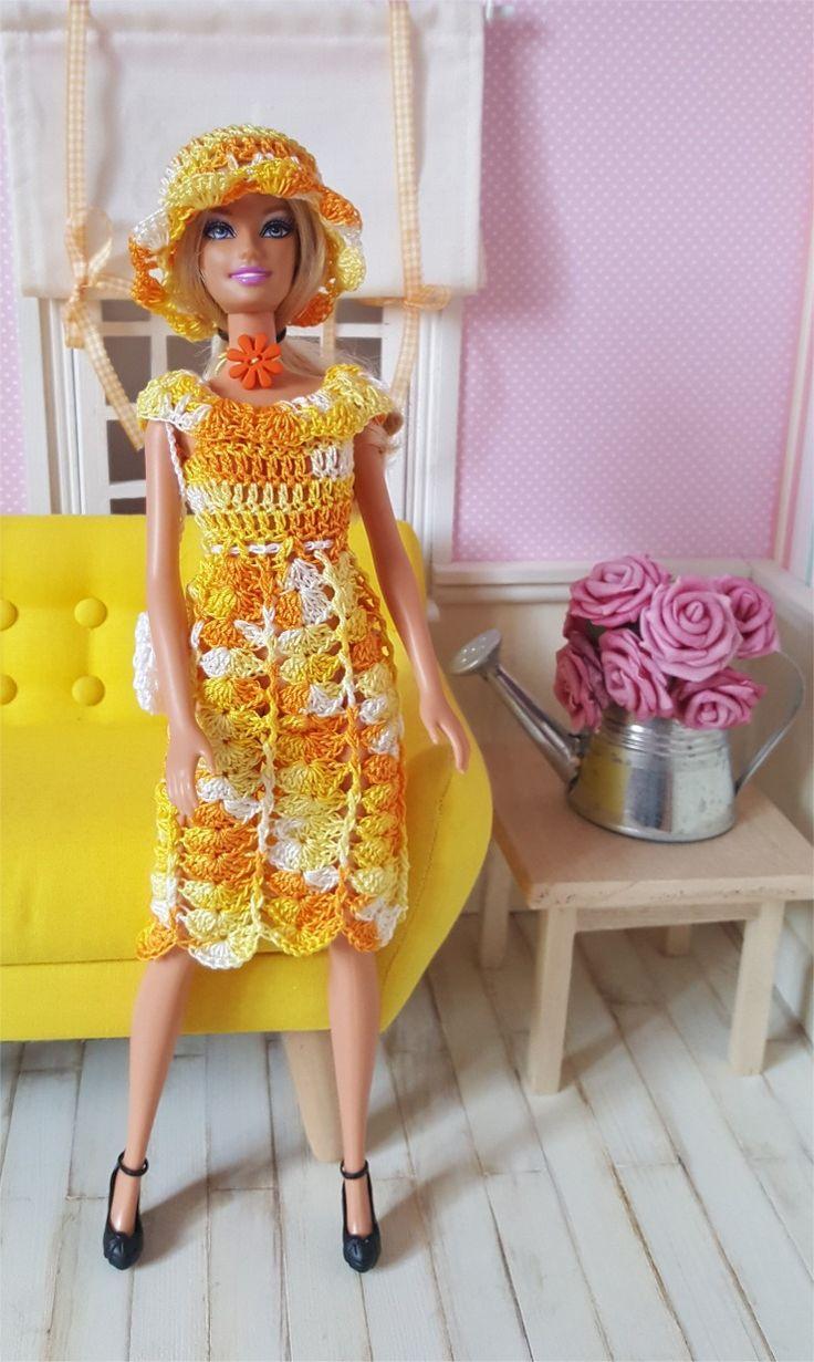 128- FICHE PATRON CROCHET Ensemble Soleillade pour poupée Barbie : Jeux, jouets par atelier-crochet