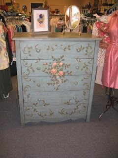 painted dressers | Red Umbrella: Gorgeous Hand Painted Dressers