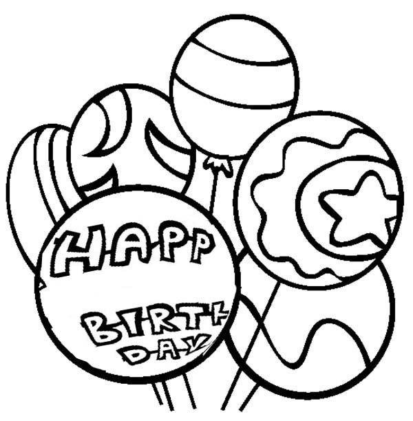Happy Birthday Balloon Coloring Pages Geburtstag Malvorlagen Geburtstag Luftballons Alles Gute Zum Geburtstag Ballons