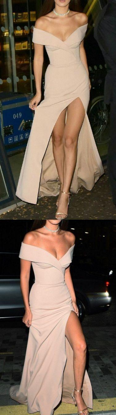 Champagne Evening Dresses, Long Prom Dresses, Sleeveless Prom