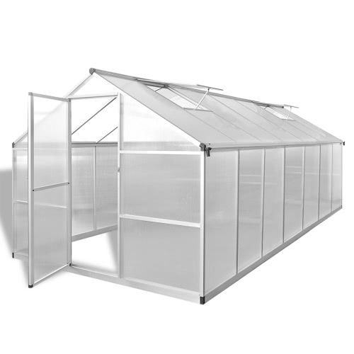 Reinforced Aluminium Greenhouse with Base Frame 10.525 m2
