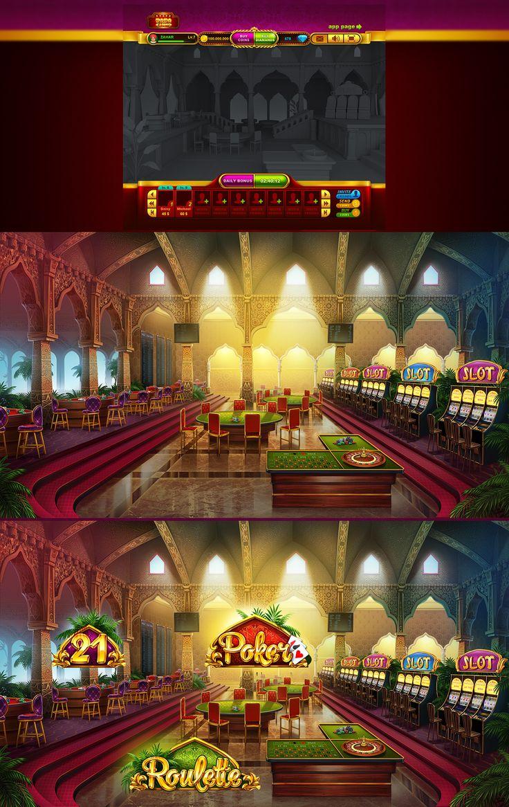 Game lobby on Behance