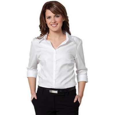 Womens Printed Herringbone 3/4 Sleeve Shirt Min 25 - Clothing - Business Shirts - Her Business Wear - WS-M81131 - Best Value Promotional items including Promotional Merchandise, Printed T shirts, Promotional Mugs, Promotional Clothing and Corporate Gifts from PROMOSXCHAGE - Melbourne, Sydney, Brisbane - Call 1800 PROMOS (776 667)