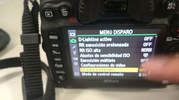 Disparo a intervalos Nikon D7000 D7100 timelapse
