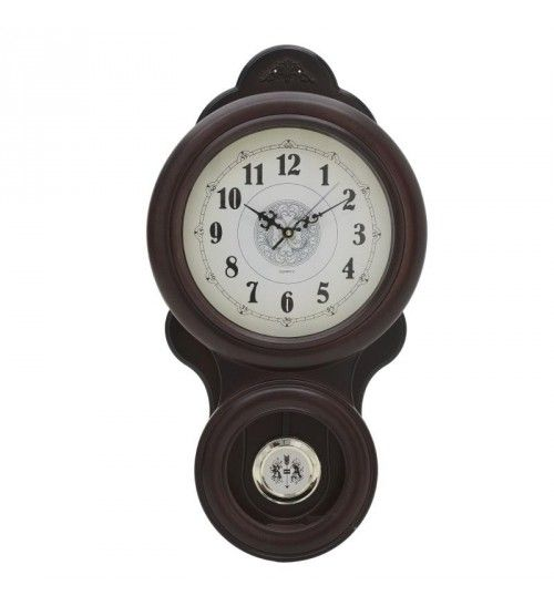 PL WALL CLOCK 'PENDULUM' BROWN 30X6X60