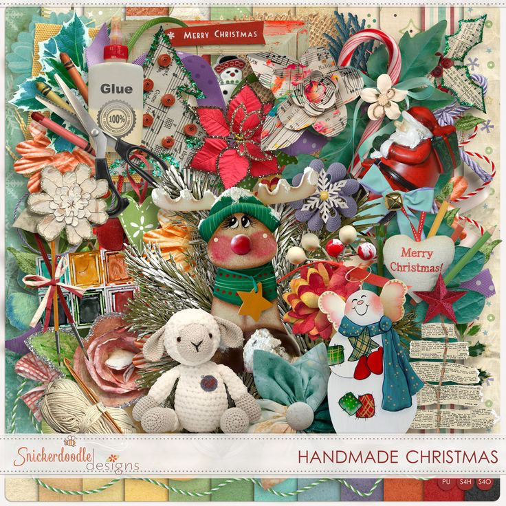 "70% Off Handmande Christmas by SnickerdoodleDesigns  Nothing says ""love"" like a handmade gift – no matter what it is. A card, a quilt, a bookmark, a photo album. They all tell the recipient that you cared enough about them to invest not only your thoughts but also your time so they could have a very special gift. Handmade Christmas celebrates the love of creating, as well as the love of giving."