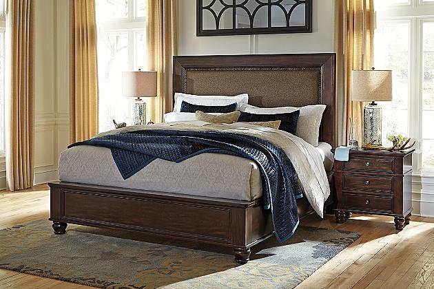 zenfield bedroom bench | california king, bedrooms and master bedroom