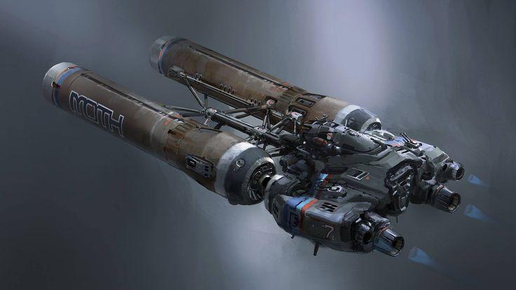 concept ships: Spaceship art by John Wallin Liberto