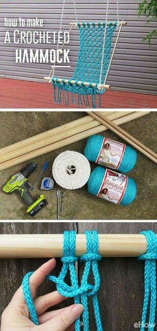 How to make a crochet hammock