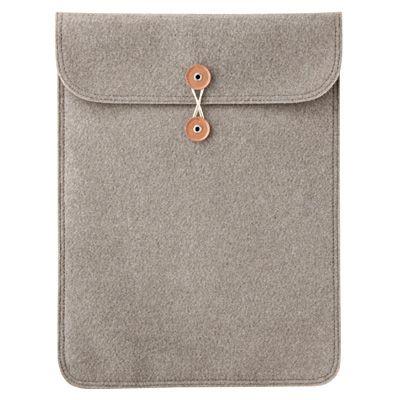 For my Mac: Muji Felt case - Beige - Large