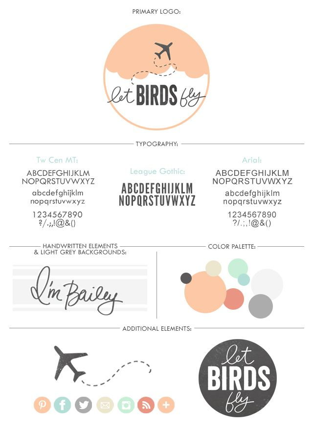 clean and simple blog design with pastels